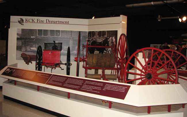 fire cart and hand drawn hose reel