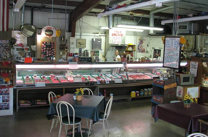 Kroegers Country Meats counter