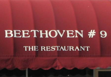 Beethoven #9, the restaurant