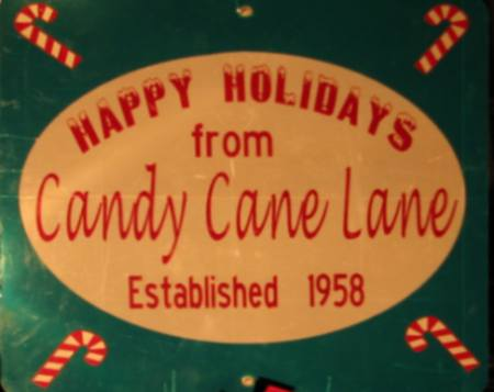 Happy Holiday from Candy Cane Lane in Prairie Village, Kansas