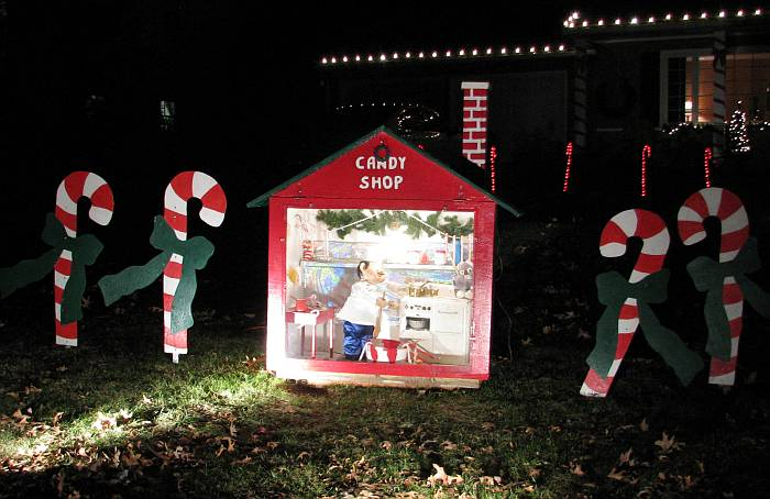 Candy Shop in display on Candy Cane Lane