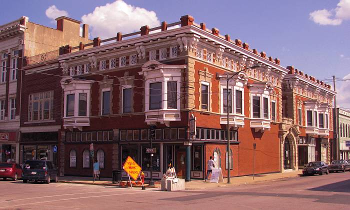 The Corner Pharmacy in downtown Leavenworth, Kansas.