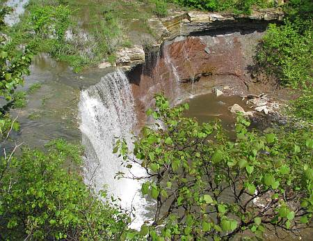 Cowley Lake Waterfall - Dexter, Kansas