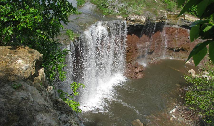 Cowley Lake Waterfall in 2008