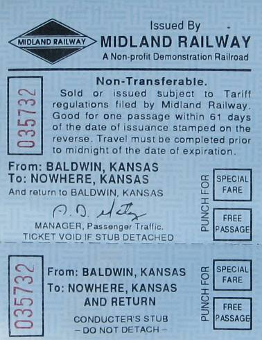 Midland Railway ticket