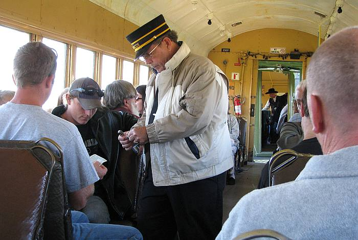 Colleting tickets on the Midland Railway