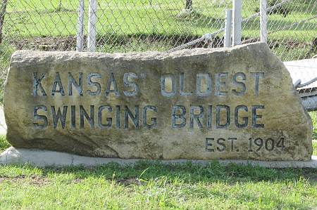 Kansas' oldest swinging bridg