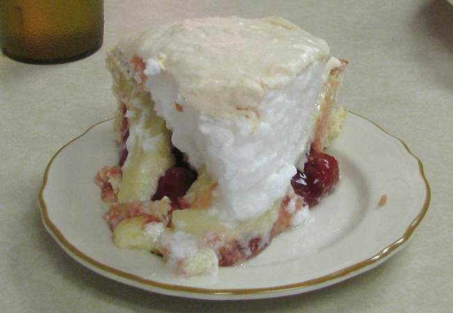 cherry cream pie at the Chicken House in Olpe, Kansas.