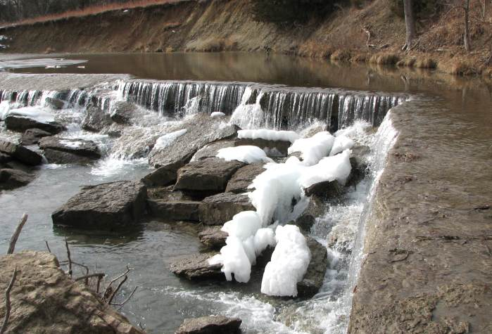 Deep Creek Waterfall in winter