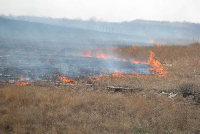 Fire on the Kansas Prairie.