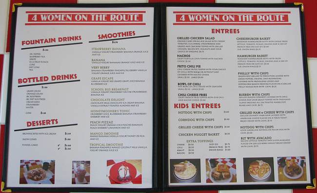 Four Women on the Route menu