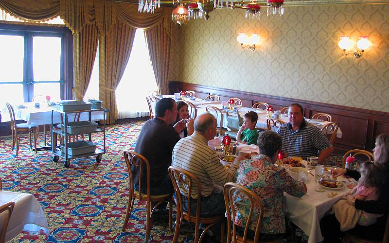 Brookville Hotel dining room - Abilene, Kansas