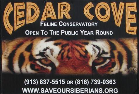 Cedar Cove Feline Conservatory and Sanctuary - Louisburg, Kansas