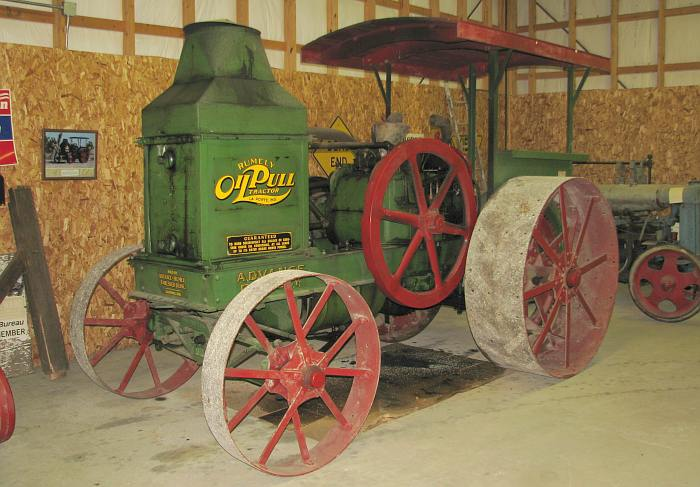 1916 Tumley oil pull tractor - Benson Museum in Howard, Kansas