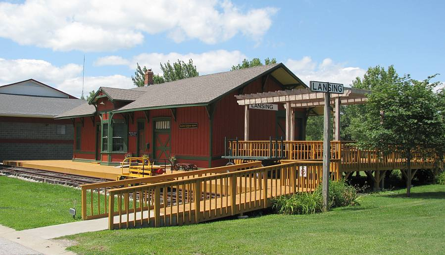 Lansing Historical Museum is located in Atchison, Topeka and Santa Fe depot