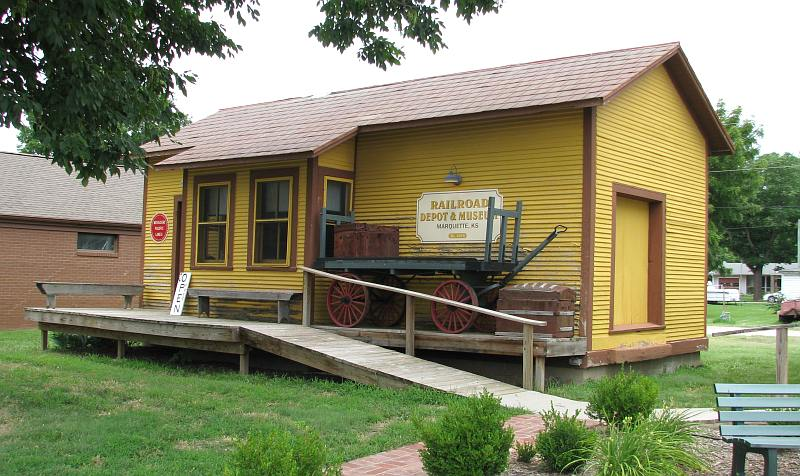 ailroad Depot and Museum - Marquette, Kansas