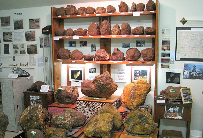 Brenham Meteorite fragments - Greensburg, Kansas