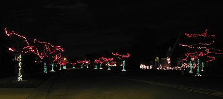 Nottingham by the Green Christmas lights - Overland Park, Kansas