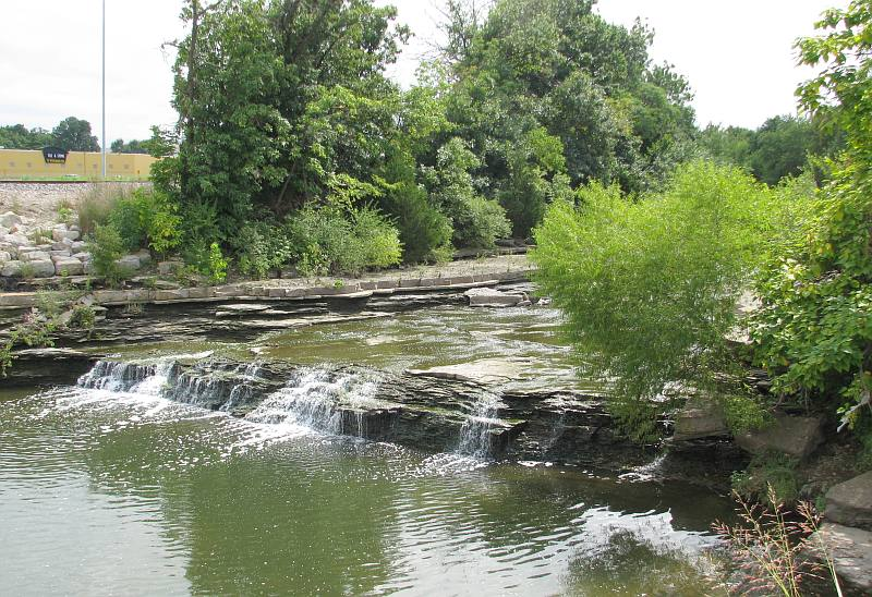 Turkey Creek Waterfall - Merriam, Kansas.