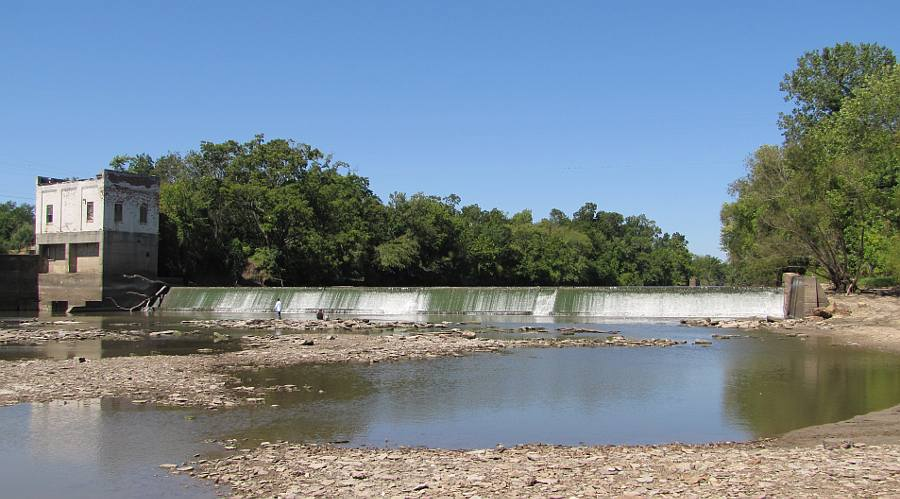 Neosho Falls overflow (low-water) dam