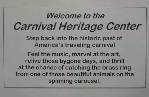 Carnival Heritage Center - Kinsley, Kansas