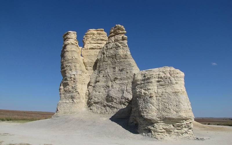 Castle Rock Badlands In Western Kansas