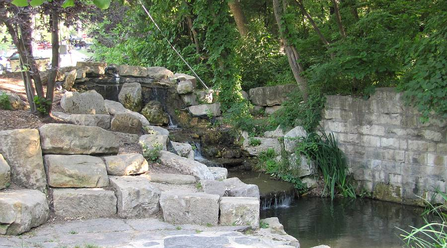 Central Park waterfall - Marion, Kansas