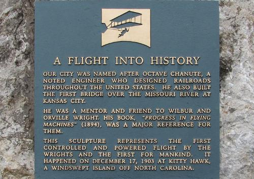 Chanute-Wright Brothers Memorial - Chanute, Kansas