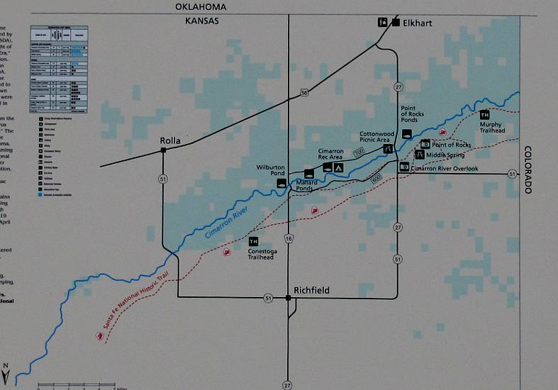 Cimarron National Grassland Map - Kansas