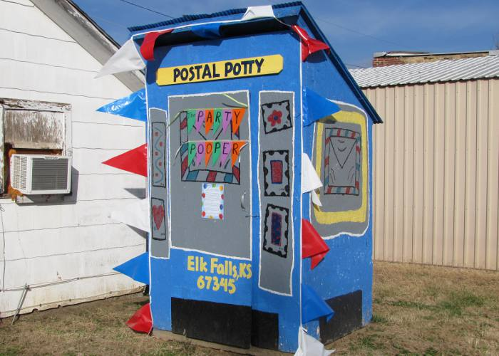 Postal Potty - Post office outhouse