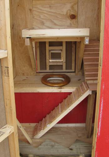 Outhouse Chicken House interior