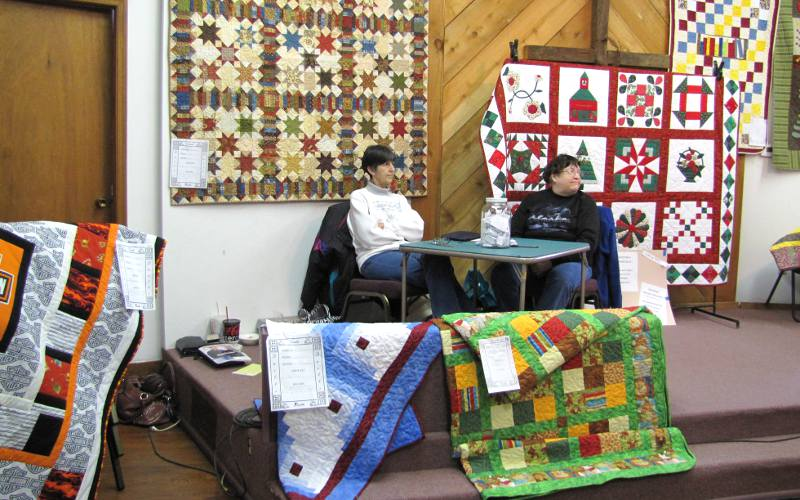 Quilt Show at Elk Falls Outhouse Tour and comunity open house