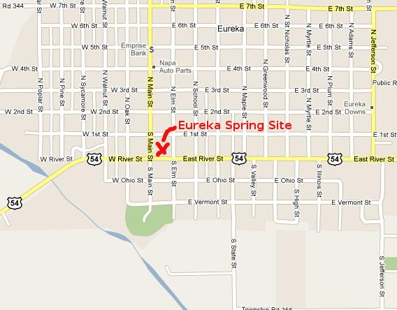 Eureka Spring Site Map - Eureka, Kansas
