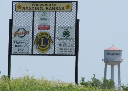 Welcome to Reading, Kansas