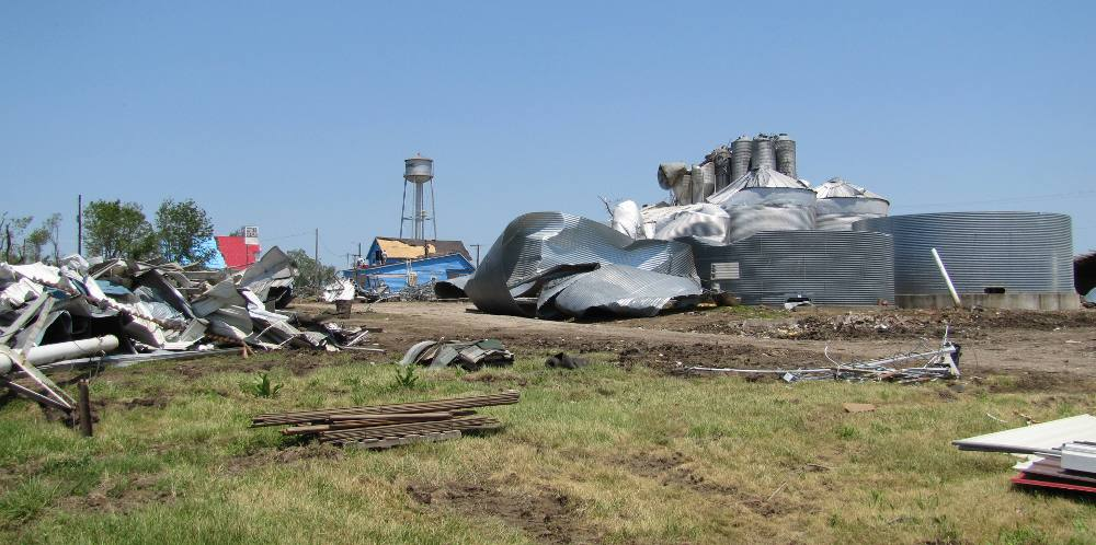 Reading, Kansas tornado damage