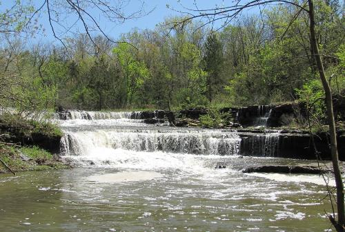 Rock Creek Lake Waterfall - Fort Scott, Kansas