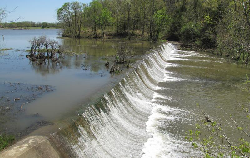 Rock Creek Lake overflow dam - Fort Scott, Kansas