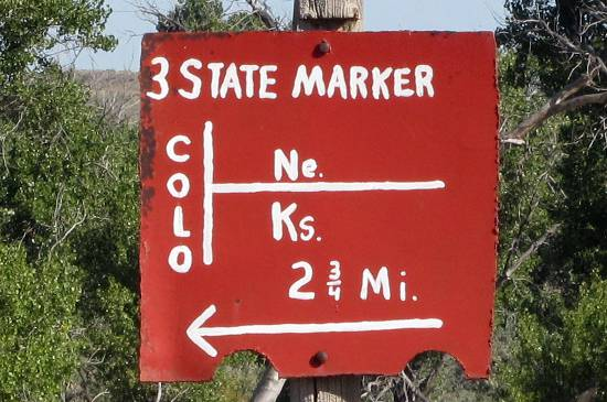 Three Corners Marker - Tristate Point
