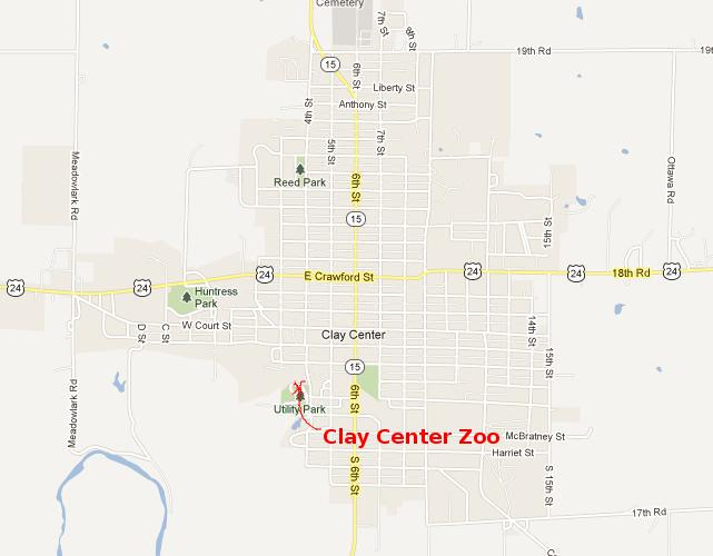 Clay Center Zoo Map - Clay Center, Kansas