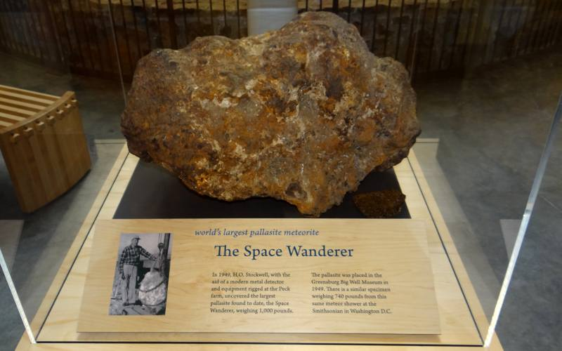 World's Largest Pallasite Meteorite - Greensburg, Kansas