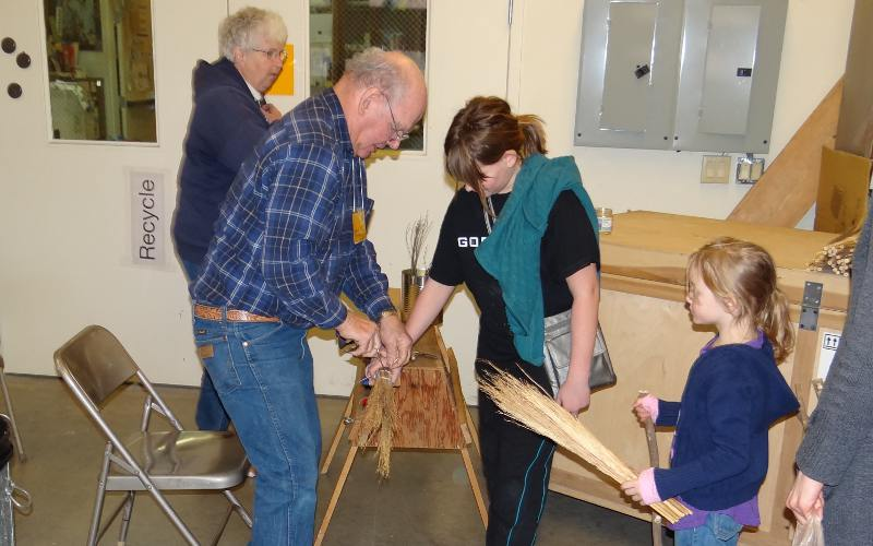 Broom making at the Kauffman Museum