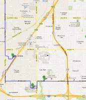 Lenexa, Kansas Christmas Display map