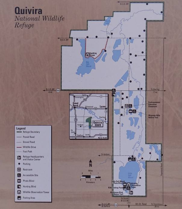 Quivira National Wildlife Refuge Map - Kansas
