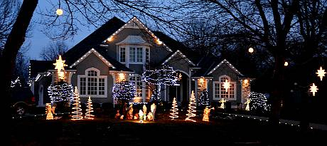 Leawood Kansas Christmas Light Display