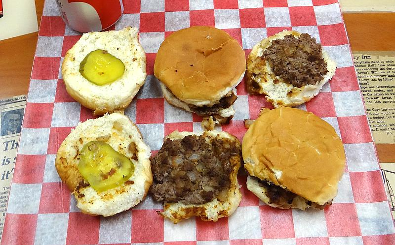 Hamburgers at the Cozy Inn in Salina, Kansas