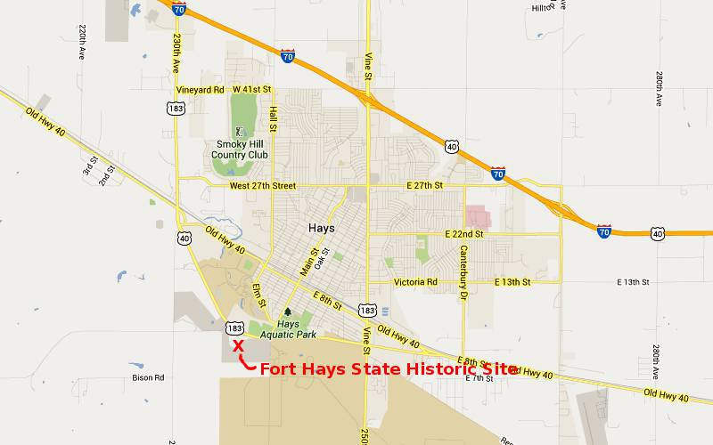 Fort Hays State Historic Site Map - Fort Scott, Kansas