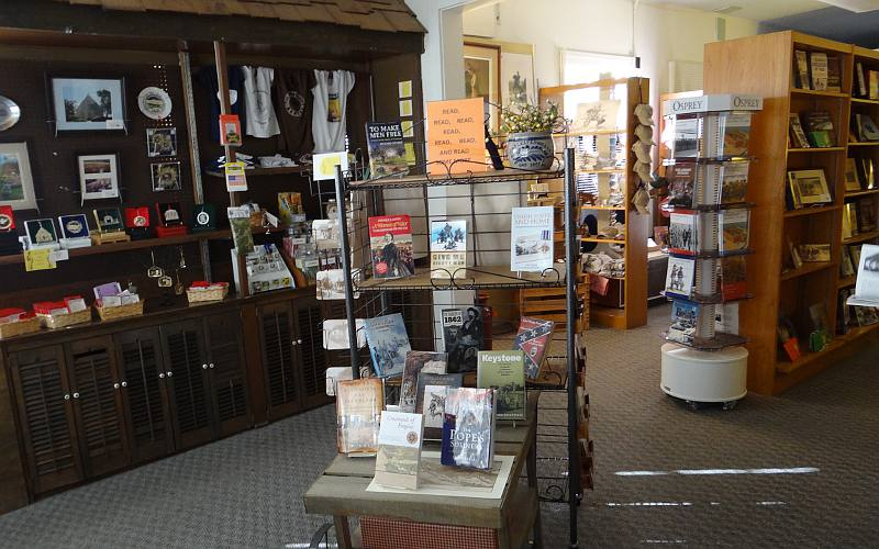 Gift shop at FOrt Leavenworth Frontier Army Museum