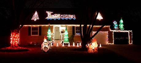 Hemlock Street Christmas Display  - Overland Park, Kansas