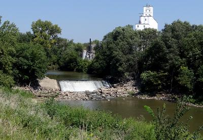 Minneapolis, Kansas - Markley Dam Waterfall