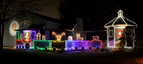 Pineview Street Christmas Display - Olathe, Kansas